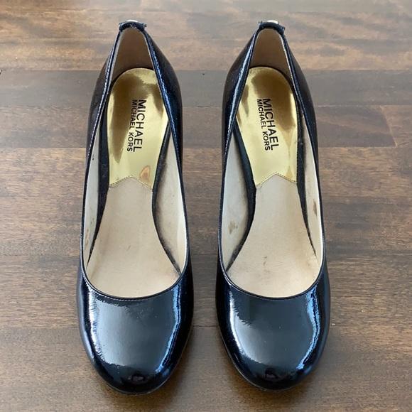 Shiny Black Michael Kors Heels